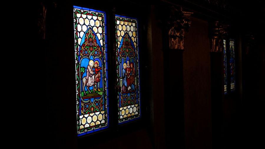 Glass window in temple