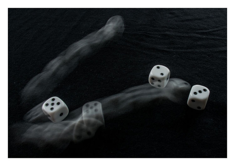 Digital Composite Image Of Dice And Water