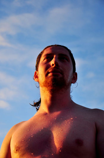Beard Day Headshot Leisure Activity Light And Reflection Light And Shadow Low Angle View One Man Only People Portrait Real People Red Red Beard Shadow's Sky Sunlight Sunny Young Adult