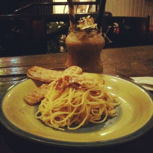 Got my first Perxtamp in Xocolat! I'm also their first Perxclub customer! :D Choco Lava and Alfredo pasta for dinner!