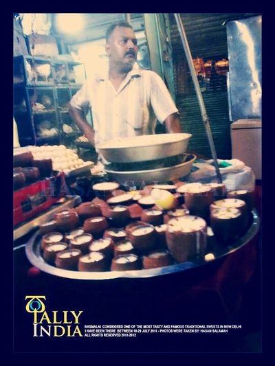 Rasmalay... Tasty indian sweet... Try it and dont miss it. photo was taken by me