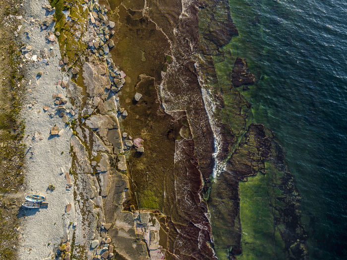 Summer's over and boats are landed for the winter Coastline Drone  Sweden Aerial Photography Aerial View Beauty In Nature Boat Boat On Land Cliff Coast Day Dronephotography Nature No People Outdoors Rock - Object Rock Face Rock Formation Scenics Sea Water Waves Waves And Rocks Öland