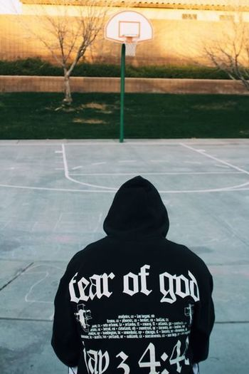 The hoops Outfit Style Basketball Luxury Hypebeast  Real People Text One Person Basketball - Sport Rear View Sport Court Men Clothing Street Basketball Hoop Day