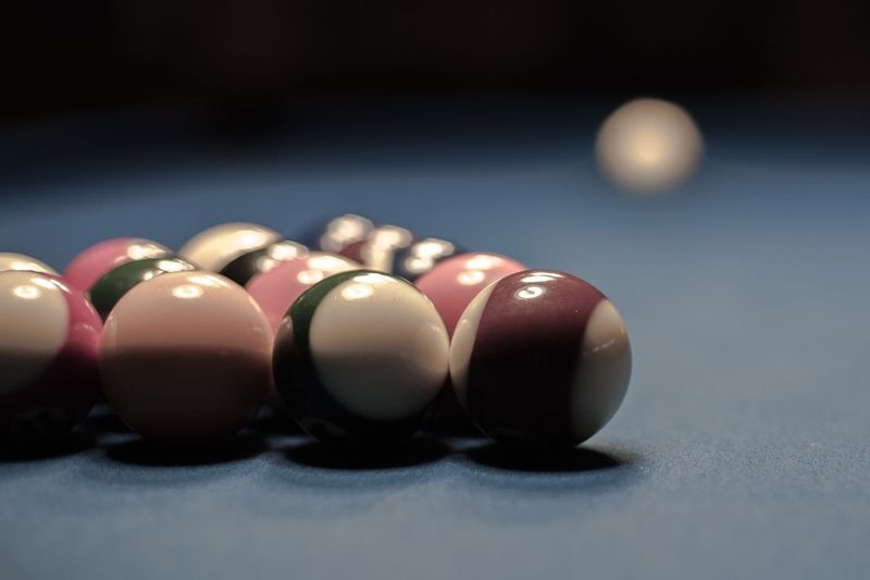 Close-up of balls on table