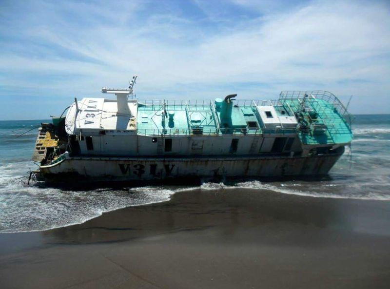 Naufragio ElSalvador  Jiquilisco Japanese  Boat