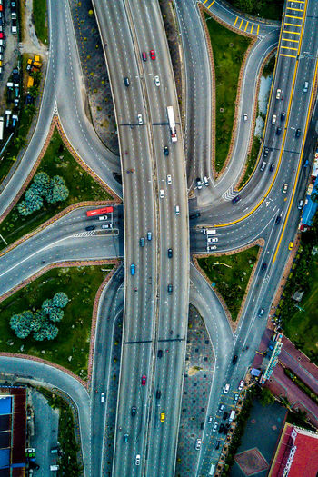 Aerial View Bridge - Man Made Structure Built Structure Car City Highway Mode Of Transport Overpass Road Traffic Transportation EyeEmNewHere