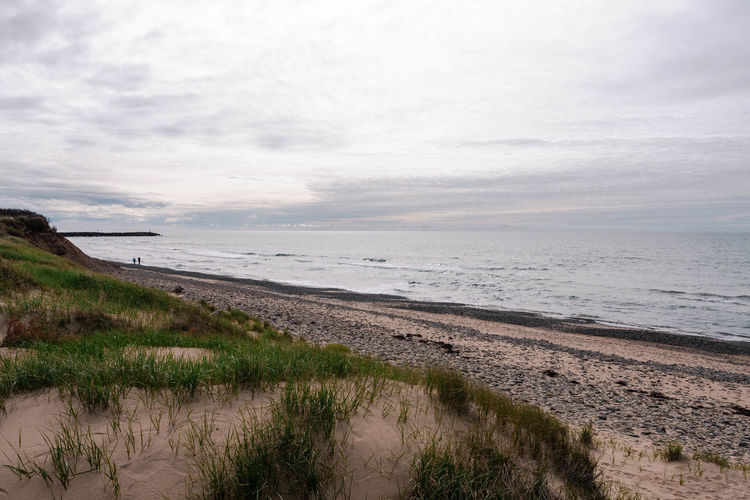 Atlantic Ocean Cape Breton Highlands Nova Scotia, Canada Beach Beauty In Nature Cape Breton Cloud - Sky Day Grass Horizon Horizon Over Water Inverness Beach Land Marram Grass Nature No People Outdoors Plant Sand Scenics - Nature Sea Sky Tranquil Scene Tranquility Water