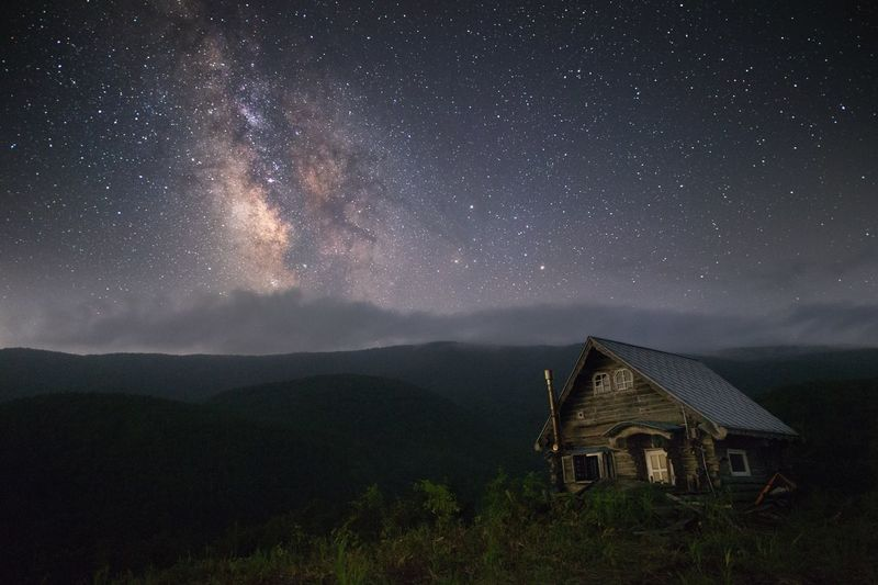 Mountains Green Japan Landscape Nature Night Nightphotography Night Photography Stars Milkyway