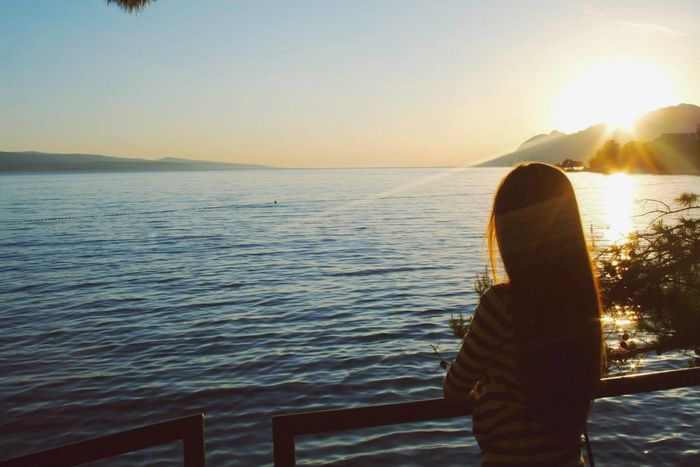 summer vibes Summer Croatia Brela  Europe Sea Girl Me Sea And Sky Memories Happiness Sunset