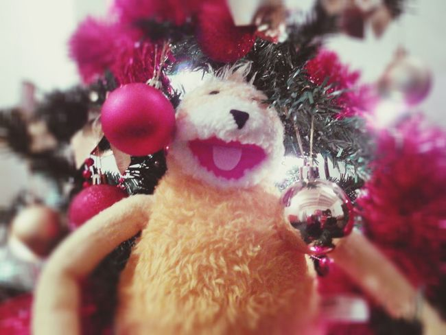 Flat Eric Happy New Year Christmas Tree Christmas Lights