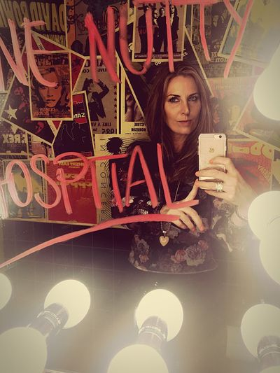 Mobile Conversations One Person One Woman Only Bathroom Selfie ✌ One Young Woman Only Portrait Mirror Lights Lipstick Writing Writing On Glass Hospital Nuthouse RockandRoll Music Posters Old Music Underground London Lifestyle London