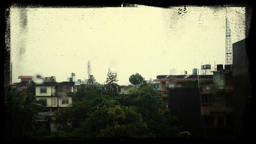 Uno de sus tantos dias lluviosos... Lo extraño! Raining Myfavoriteperson Pokhara
