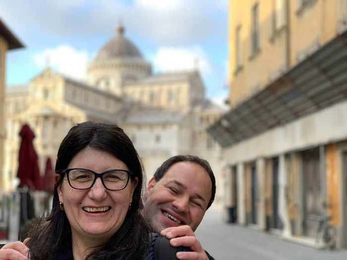 EyeEm Selects Architecture Building Exterior Built Structure Glasses Smiling Portrait Day Women Two People Headshot Focus On Foreground Adult Building Young Adult Happiness Toothy Smile Teeth Eyeglasses  Real People City
