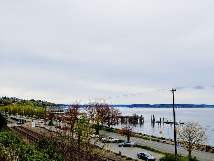 Waterfront LG V30 Tacoma_WA Españoles Y Sus Fotos Old Town Ocean View Gray Sky Outdoor Photography Bird Grass Cloud - Sky Tranquil Scene