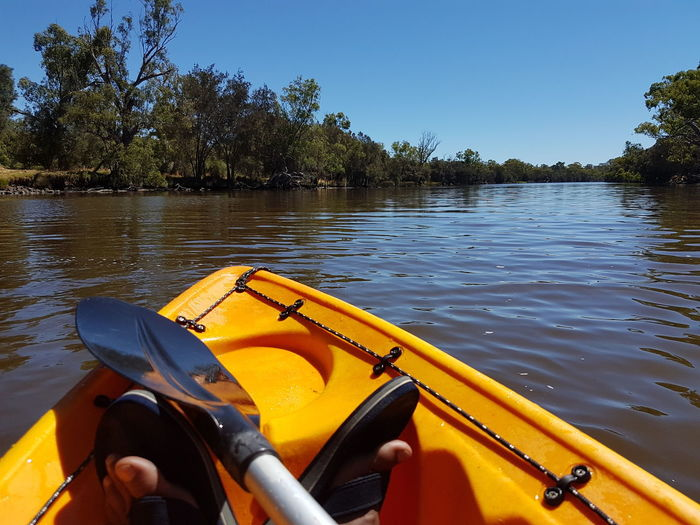 Fun in the sun🚣☺ Lake Water Kayak Blue Tree Nautical Vessel Outdoor Pursuit Canoe Leisure Activity Sky Outdoors Vacations Sport Nature Point Of View Oar Day Adventure Pedal Boat No People
