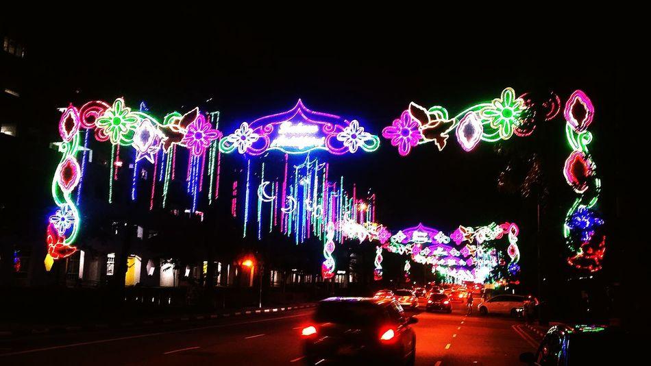 Ramadan Bazaar at Geylang, Singapore. Eid Mubarak! 🌙😄 Singapore Photography Cities At Night Singapore City Beautiful Decorations Colors #color #colorful #TagsForLikes #red #orange #yellow #green #blue #indigo #violet #beautiful #rainbow #rainbowcolors #col Buildings & Sky Night Shot Traffic Lights Ramadan  Eid Mubarak Bazaar Festive Season Festive Decor Festivelights