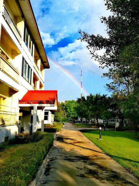 Cloud - Sky Sky Architecture Tree Nature No People Outdoors Day Rainbow Rainbow Sky Rainbow🌈 Lopburi Lopburi Thailand Thai Life