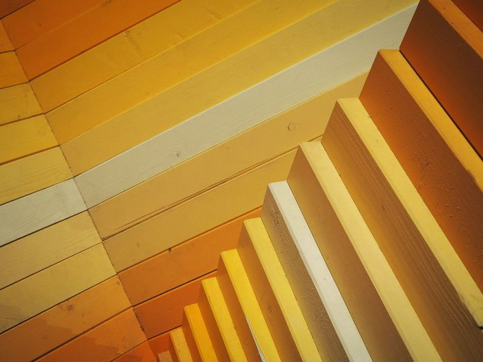 Low angle view of yellow steps