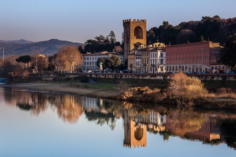 Florence, Italy Reflection Water Architecture Building Exterior No People Outdoors Tourism Cityscape Landmark Travel Destinations Travel