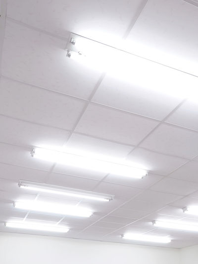 Illuminated Ceiling Indoors  Lighting Equipment Low Angle View No People Architecture Light Fluorescent Light Electricity  Glowing Flooring Light - Natural Phenomenon Built Structure Electric Light White Color Recessed Light Wall - Building Feature Tile Sunlight Light Fixture Electrical Equipment