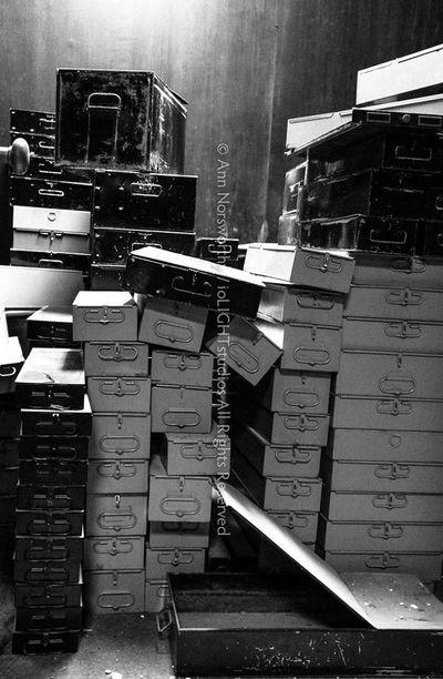 "©Ann Norsworthy ""l o o t e d"" Banks Black & White Boxes IoLIGHTstudios"