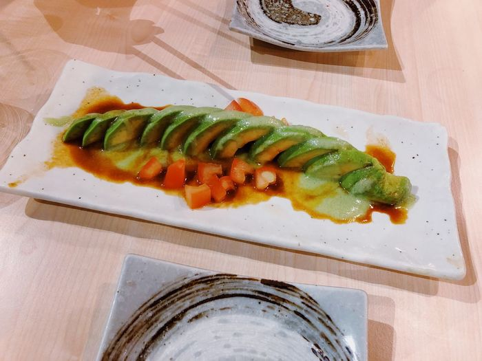 Avocado Love Green Color Vegetable Food Food And Drink Freshness Healthy Eating Indoors  Ready-to-eat Table High Angle View Close-up Still Life Plate Serving Size Japanese Food Snack Wasabi Fresh Yummy Delicious Colors Lifestyles Life