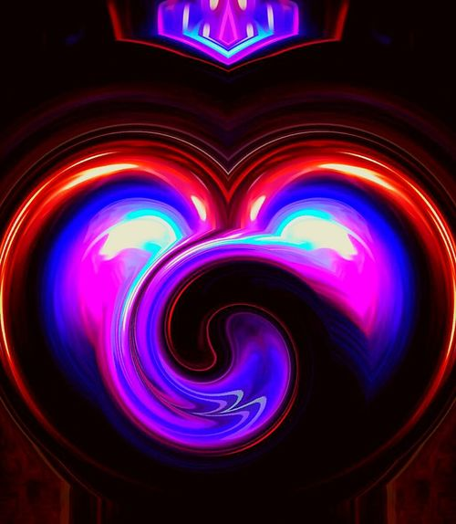 Multi Colored Backgrounds Vibrant Color Close-up Full Frame Heart ❤ Heart Shape Abstract Photography Illuminated Shine On ✨ Electric Light Lit Colorful Brillianceinlove Spinning Heart In Love ❤ Tranquility Calm Freshness Doing What I Love To Do Brilliant Colour Idyllic Tranquil Scene Ubu&I'llbme The Color Of Technology