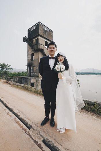 Wedding Celebration Full Length Bride Newlywed Life Events Couple - Relationship Bridegroom Married Two People Wedding Dress Event Emotion Love