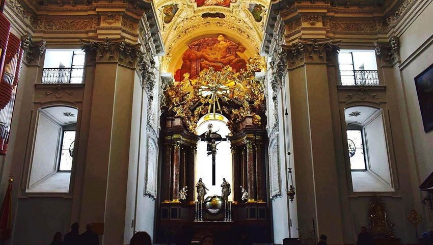 Religion Place Of Worship Indoors  Window Ceiling Spirituality Architecture Day History Built Structure Architectural Column Travel Destinations Low Angle View Advent Basilica Mariazell In Austria Phenomenal