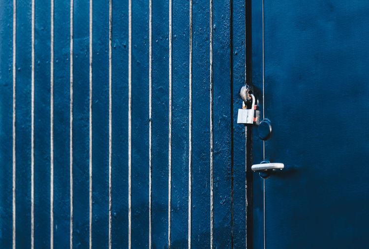Locked house door