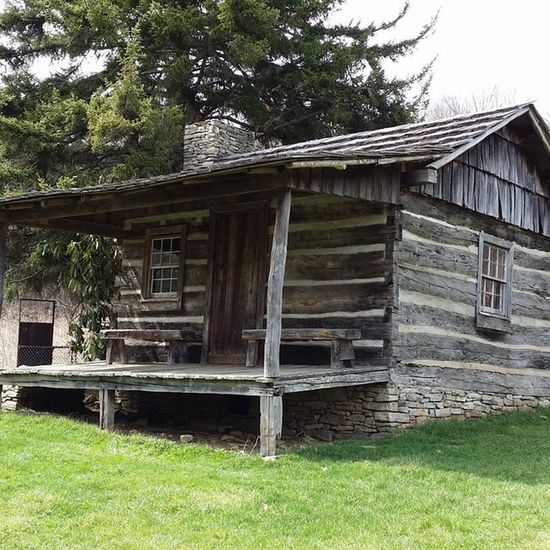 Ferguson Cabin, 1847, said to be highest farm home - at close to 5,000 ft. - in the Smokies Wnc WesternCarolina Smokynationalpark