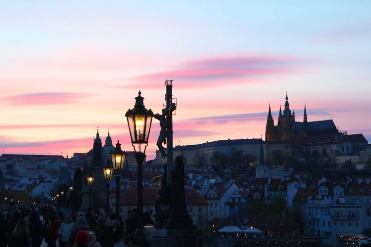 Architecture Sunset Sky Illuminated Prague Wallpaper Neighborhood Map Live For The Story The Week Of Eyeem EyeEm Selects View Cityscape Twilight An Eye For Travel Adventures In The City The Traveler - 2018 EyeEm Awards My Best Photo