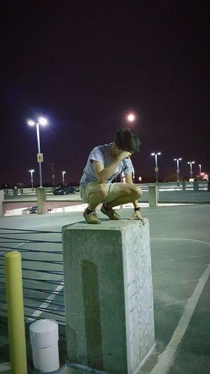 Teens Teenager Teenagers  Modern Parking Lot Parking Garage Concrete Concrete Jungle Squat Party Squat Challenge