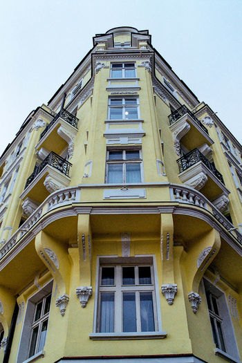 Building - 35mm film Balkans Europe Architecture Balkon Balkony Building Exterior Built Structure Bulgaria Day Low Angle View No People Old Buildings Outdoors Sky Window First Eyeem Photo