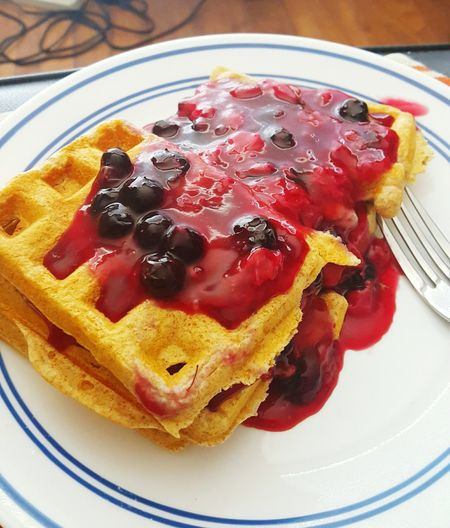 Waffles!! Galaxy Camera Fun Breakfast Icook Homemade Waffles Waffles Berries Food