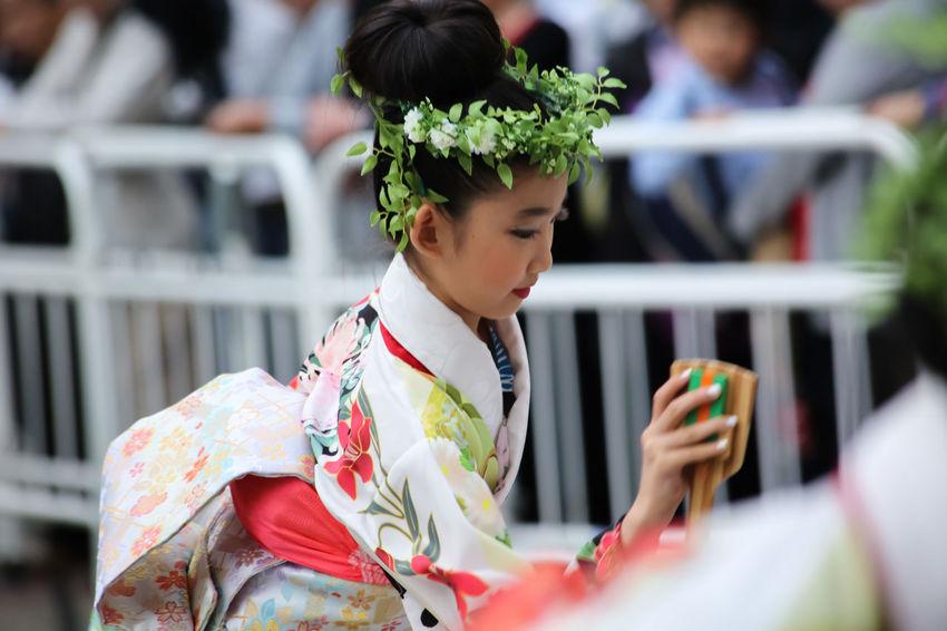 Japanese Feastival Series Beautiful Girl Beautiful Japanese Fashion Childhood Cute Girl Girl Dancer Japanese Feastival Japanese Feastival Series Shot Pretty Girl Street Dancing Street Shots Streetphotography Yosakoi Feastival Of Tokyo 2016