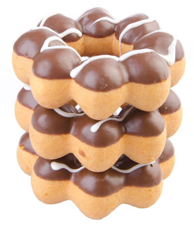Appetizer Baked Brown Candy Chocolate Close-up Cookie Dessert Dessert Topping Donut Food Food And Drink Freshness Glazed Food Indoors  Indulgence No People Ready-to-eat Still Life Studio Shot Sweet Food Temptation Unhealthy Eating White Background