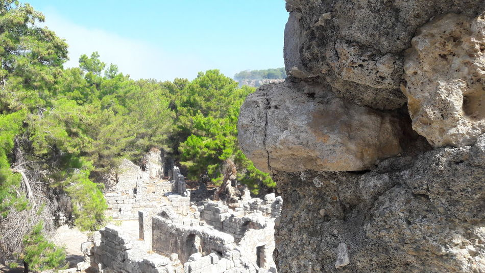 Phaselis Rock - Object Outdoors No People Historical Building Beauty In Nature Ancient Sunrise