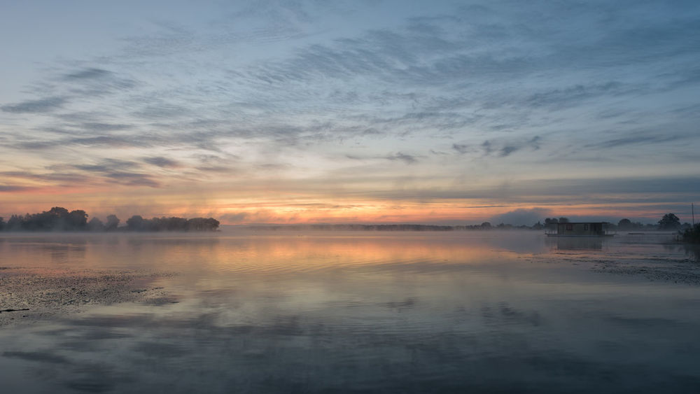 Havelland Germany Hohennauener See Beauty In Nature Brandeburg Cloud - Sky Day Fog Hohennauen Idyllic Lake Nature No People Outdoors Reflection Scenics Semlin Sky Sunset Tranquil Scene Tranquility Water
