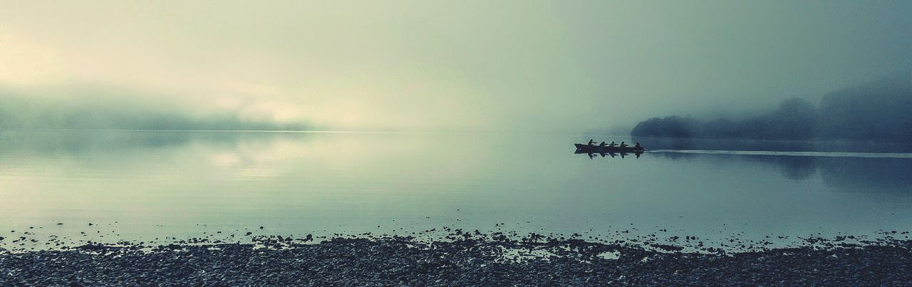 Foggy morning kayaking Water Fog Lake Tranquility Bala Lake