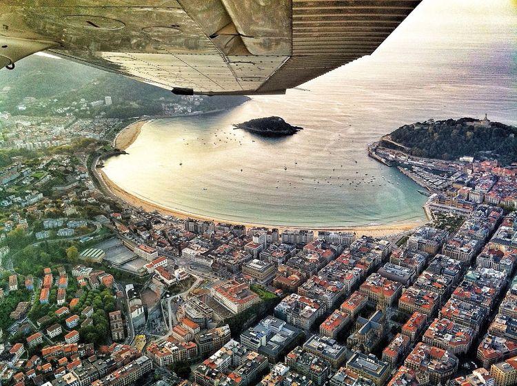 Donostia / San Sebastián Basque Country Flying Volando Voy... South Aerial Shot
