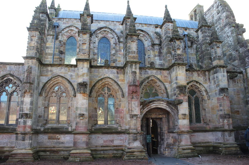 Arch Architecture Building Exterior Built Structure Day Edinburgh No People Outdoors Place Of Worship Religion Rosslyn Chapel Scotland Sky Travel Destinations