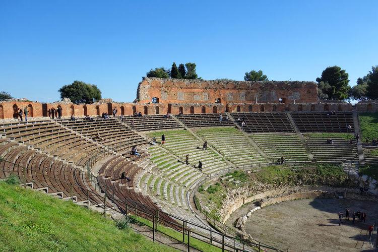 Architecture Taormina Messina Sicily Italy Theater Tree King - Royal Person Sky