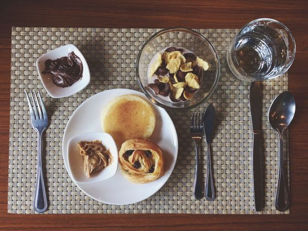 Breakfast Food Food And Drink Table Peanut Butter Healthy Eating Healthy Food Biscuits Bowl Chocolate Milk Cornflakes Pankakes