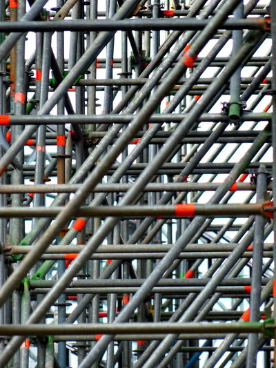 Architecture Scaffolding Building Site Complexity Day Diagonals No People Strut Uniform Features EyeEm Ready   The Graphic City