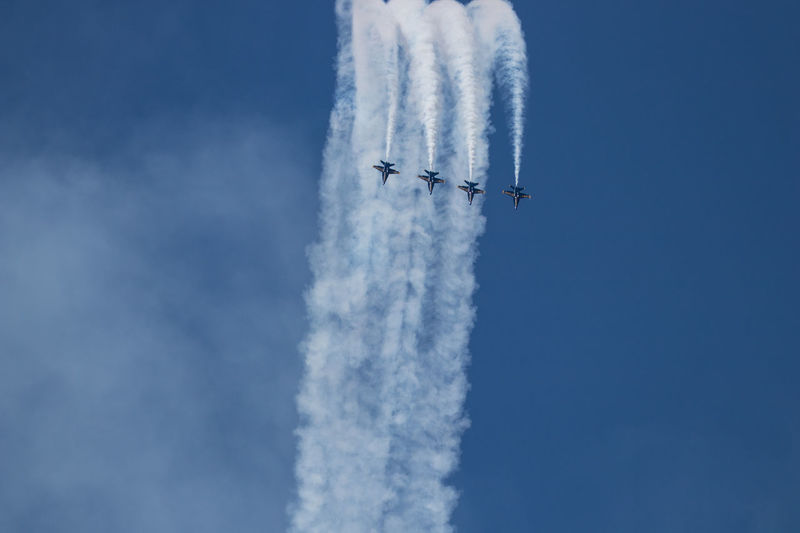Navy Blue Angels Aerobatics Air Vehicle Airplane Airshow Blue Cloud - Sky Day Flying Low Angle View Mid-air Mode Of Transportation Motion Nature No People on the move Order Outdoors Plane Sky Smoke - Physical Structure Speed Teamwork Transportation Travel Vapor Trail