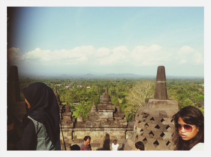 Today At Borobudur, east java, Indonesia.. Looking awesome from the top.