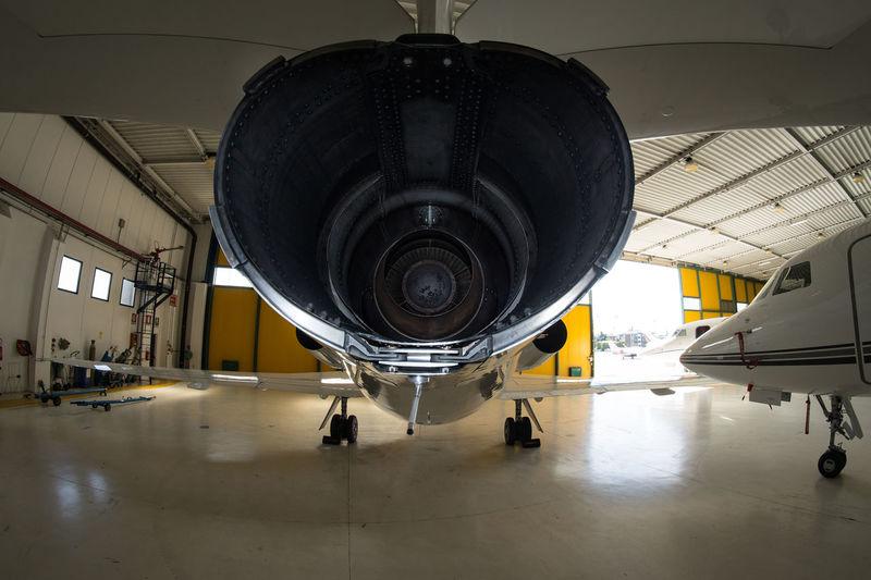 Fisheye Jet Engine Rear Exhaust Engine Technology Airplane Transportation