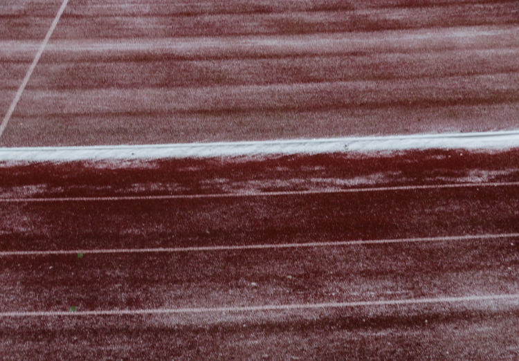 track sweept fore snow Outdoors Cold Temperature Snow Track And Field Stadium Snow Sweep Backgrounds Full Frame Textured  Pattern Close-up LINE Marking Parallel Covering Cold Snow Covered White Line