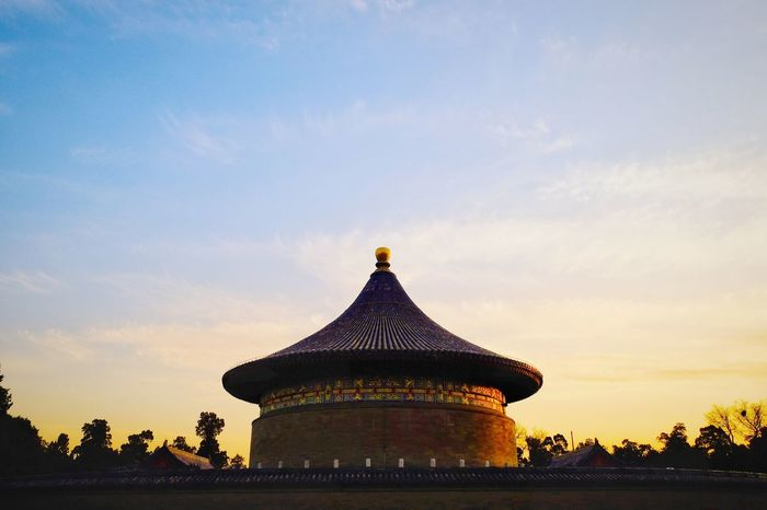 History Silhouette Sunset Architecture Travel Destinations Sky Travel Ancient Palace Outdoors Scenics Day Warm Colors Light And Shadow FUJIFILM X-T10 Beijing, China Temple Of Heaven Park Warm Light Royalty Cloud - Sky Travel Silhouette Tourism Architecture Sunlight